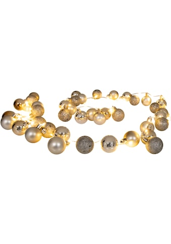 näve LED-Lichterkette »LED-Outdoor-Weihnachtslichterkette l: 150cm gold«, 30 St.-flammig, Timer kaufen
