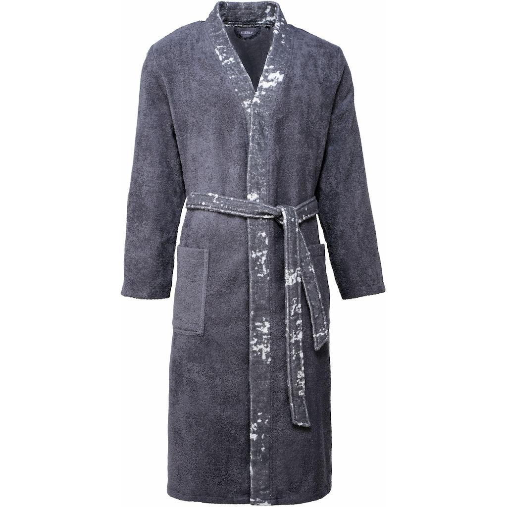 Egeria Herrenbademantel »Remo«, (1 St.), mit Kimonokragen