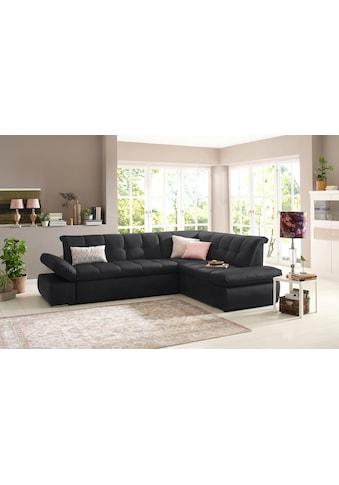 Home affaire Ecksofa »Belle«, wahlweise mit Armlehnenverstellung und Bettfunktion und... kaufen