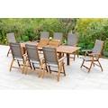 MERXX Gartenmöbelset »Acapulco«, (9 tlg.), 8 Klappsessel, ausziehbarer Tisch