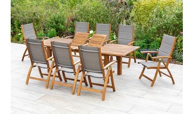 MERXX Gartenmöbelset »Acapulco«, (9 tlg.), 8 Klappsessel, ausziehbarer Tisch kaufen