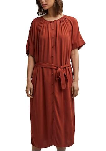 Esprit Collection Blusenkleid, (Set, 2 tlg., mit Bindegürtel), mit durchgehender... kaufen