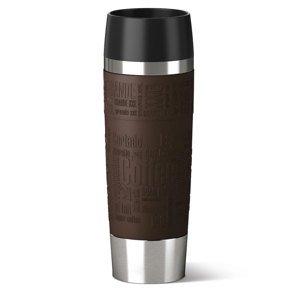 Emsa Thermobecher »Travel Mug Grande«, (1 tlg.), Edelstahl, 500 ml Inhalt, 100% dicht, auslaufsicher, 360°-Rundum-Trinköffnung, spülmaschinenfest, hält Getränke 6 Stunden heiß und 12 Stunden kalt.