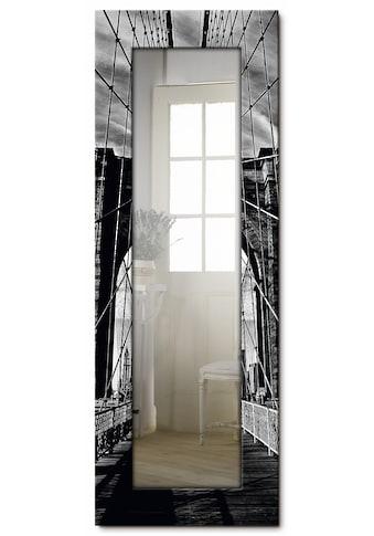 Artland Wandspiegel »Brooklyn Bridge - schwarz/weiss«, gerahmter Ganzkörperspiegel mit... kaufen