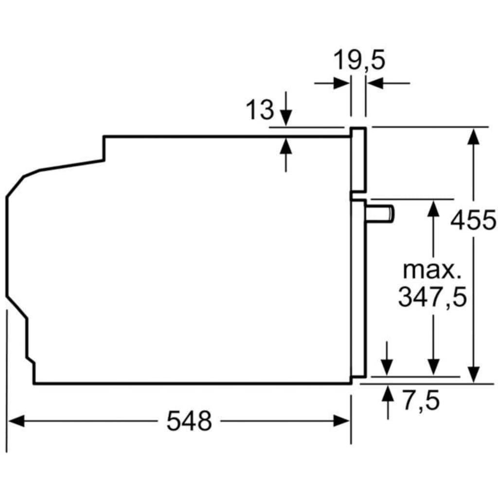 SIEMENS Einbaubackofen »CB634GBS3«, iQ700, CB634GBS3, ecoClean