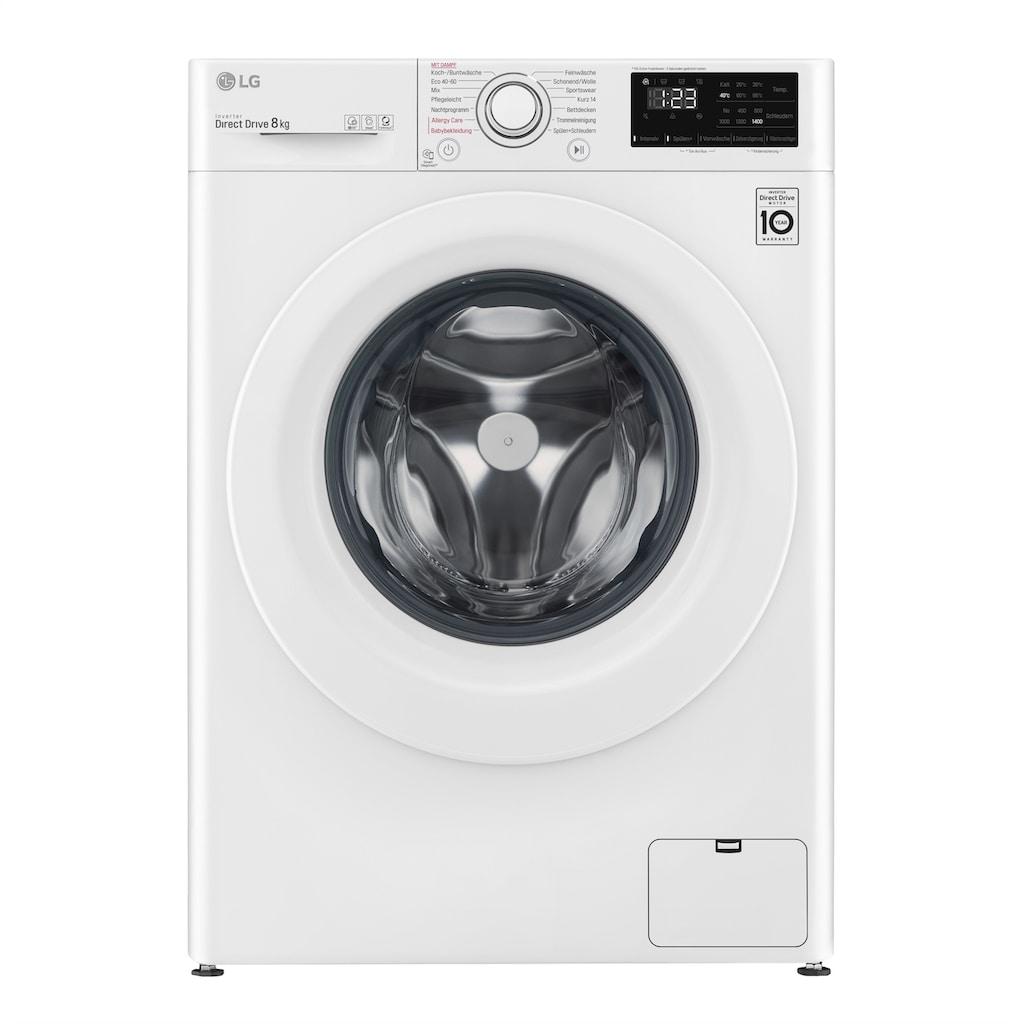 LG Waschmaschine, F4WV308S0, 8 kg, 1400 U/min