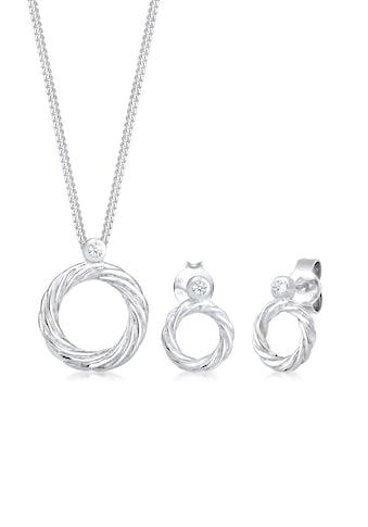 Diamore Schmuckset »Twisted Liebe Diamant (0.06ct) 925 Sterling Silber« kaufen