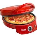 bestron Pizzaofen »Viva Italia«, 1800 W, Ober-/Unterhitze, Bis max. 180°C, 1800 Watt, Farbe: Rot