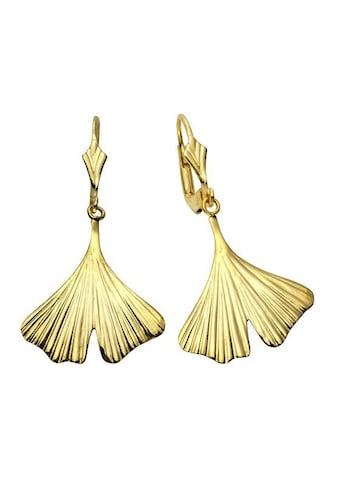 Vivance Paar Ohrhänger »333/- Gelbgold Ginkgo 3,5cm«, mit Geschenketui kaufen
