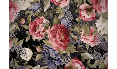 CONSALNET Vliestapete »Muster mit roten Blumen«, in verschiedenen Größen kaufen