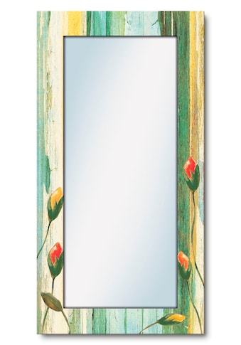 Artland Wandspiegel »Bunte Blumen«, gerahmter Ganzkörperspiegel mit Motivrahmen,... kaufen