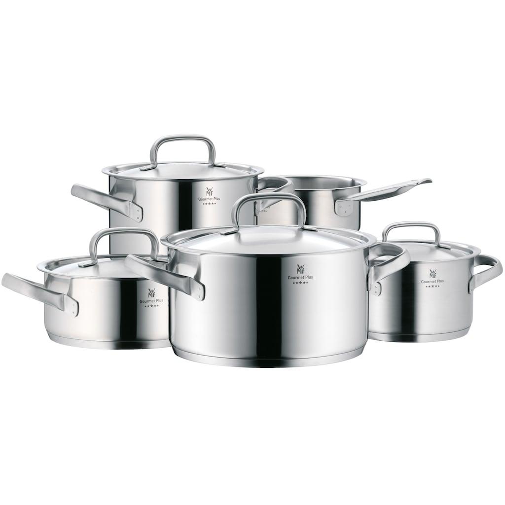 WMF Topf-Set »Gourmet Plus«, Cromargan® Edelstahl Rostfrei 18/10, (Set, 5 tlg.), induktionsgeeignet