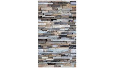 BODENMEISTER Fototapete »3d Effekt Holzwand Vintage bunt«, Rolle 2,80x1,59m kaufen