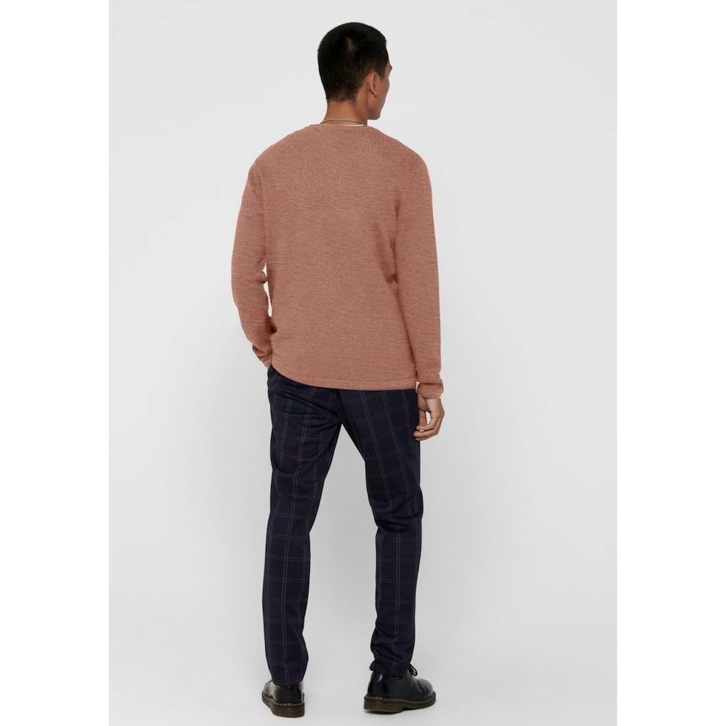 ONLY & SONS Rundhalspullover »PANTER 12 STRUC CREW NECK KNIT«