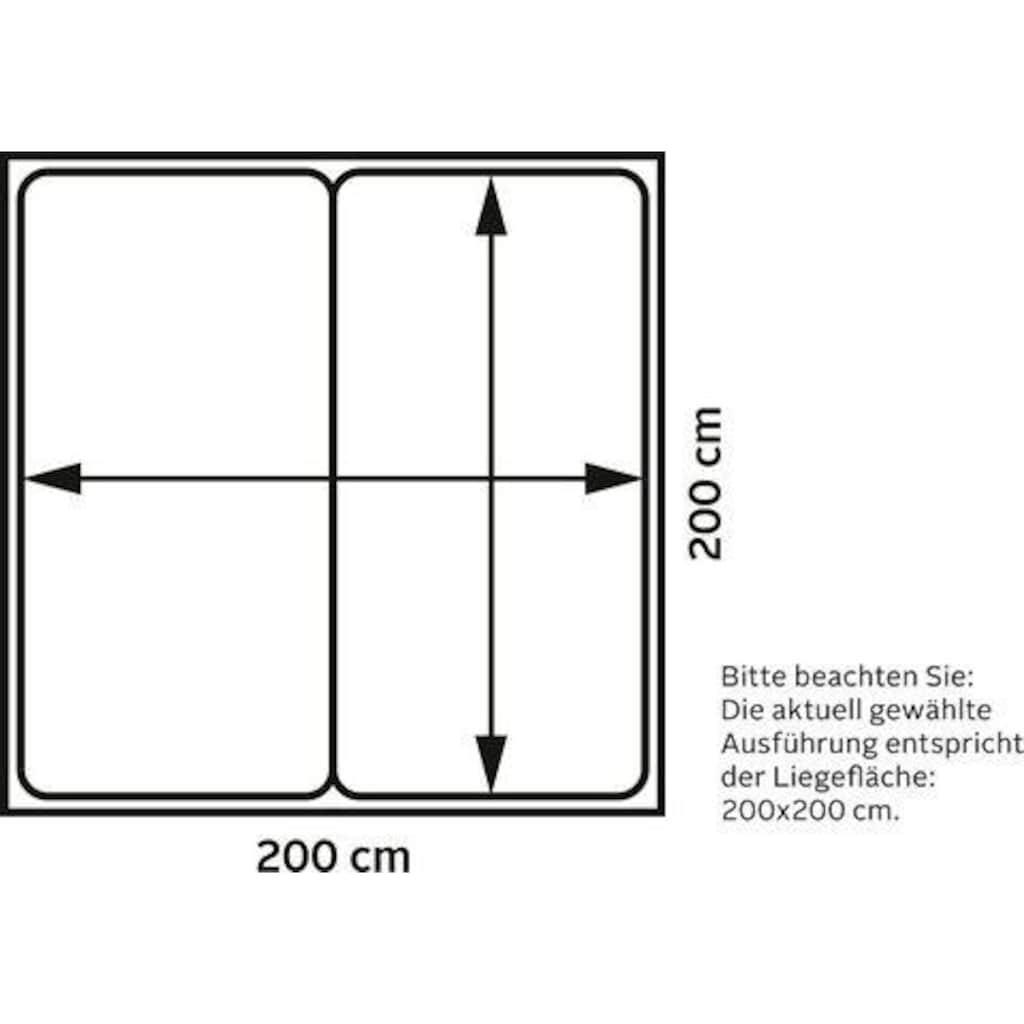Places of Style Boxspringbett »Cup«, mit Massivholzrahmen, mit Topper, in 2 Härtegraden, in 3 Breiten
