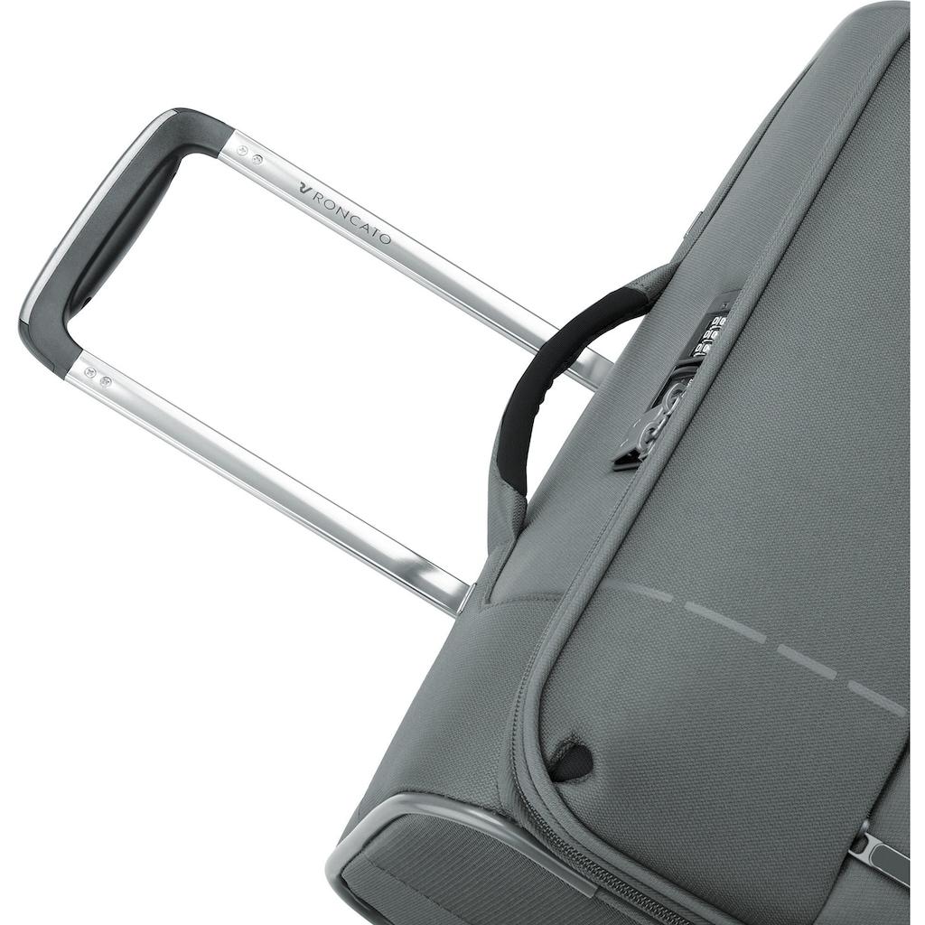RONCATO Weichgepäck-Trolley »Sidetrack, 75 cm«, 4 Rollen, mit Volumenerweiterung