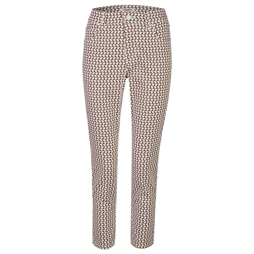 ANGELS Ankle-Jeans, mit geometrischem Allover-Muster