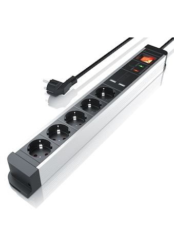 Arendo 5-fach Steckdosenleiste mit 2x USB-Ports (2000mA / 5V) kaufen