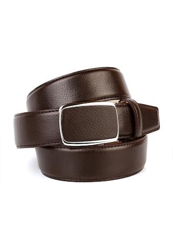 Anthoni Crown Ledergürtel, Eleganter Gürtel in Hirschprägung, Schließe bezogen kaufen