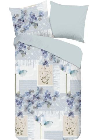good morning Wendebettwäsche »Summer blue«, mit Blumen in Patchwork-Optik kaufen