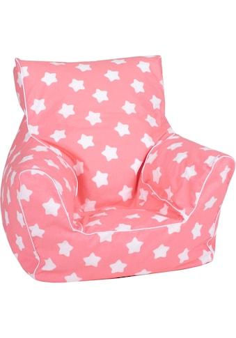 Knorrtoys® Sitzsack »Pink, white stars«, für Kinder; Made in Europe kaufen