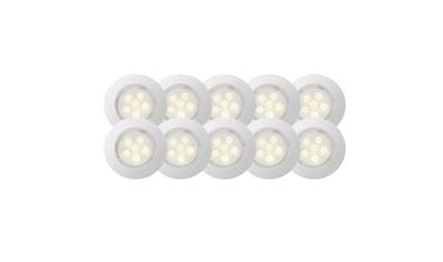 Brilliant Leuchten Cosa 45 LED Einbauleuchtenset 10 Stück edelstahl/warmweiß kaufen
