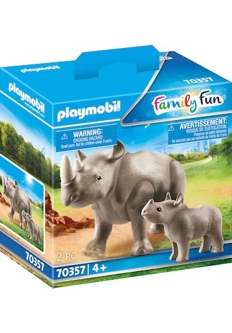 "Playmobil® Konstruktions - Spielset ""Nashorn mit Baby (70357), Family Fun"", Kunststoff kaufen"
