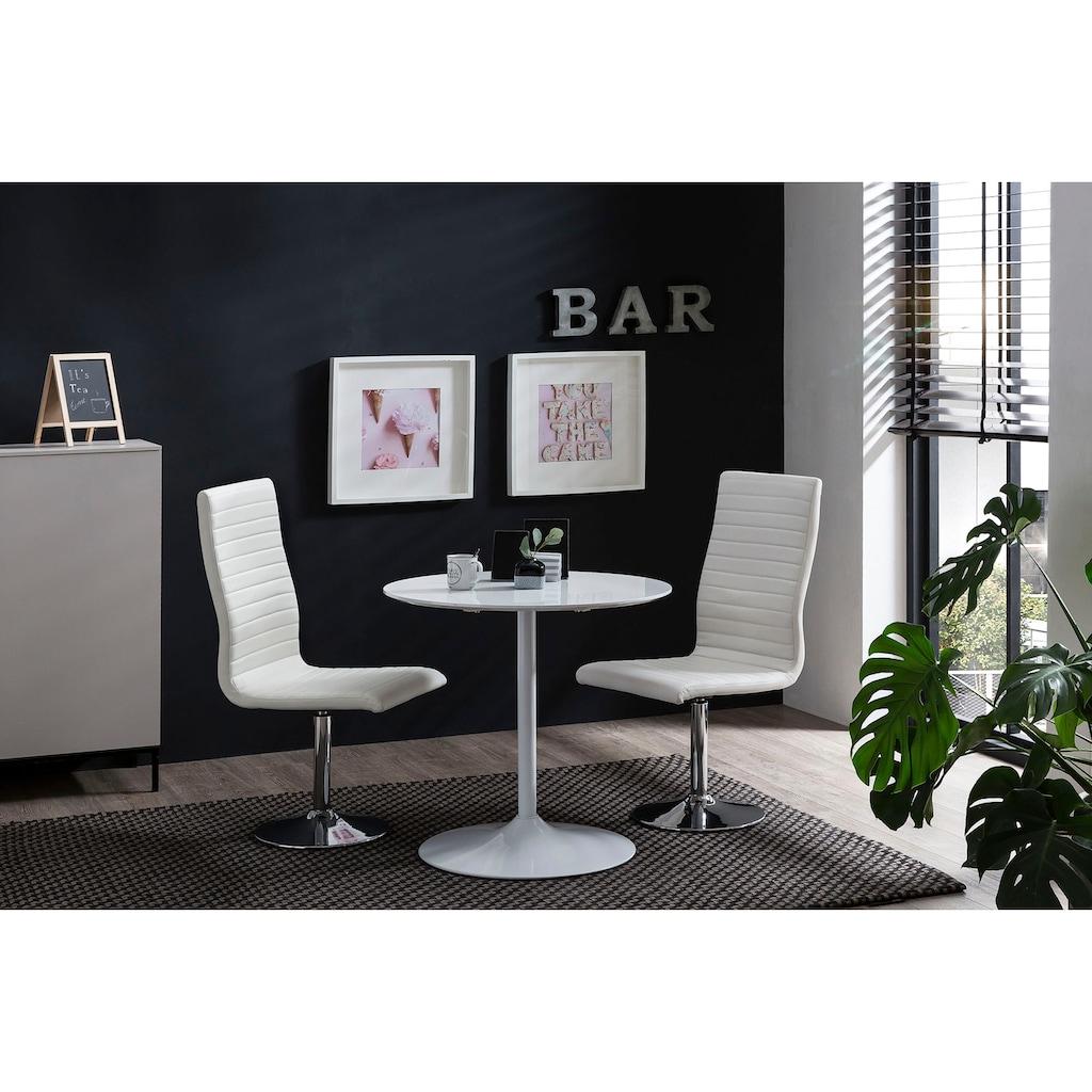 SalesFever Esstisch, rund, Bistro Tisch, Tulpentisch