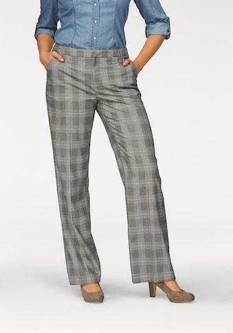Boysen's Bügelfaltenhose, mit feinem Karo-Muster aus Glencheck kaufen