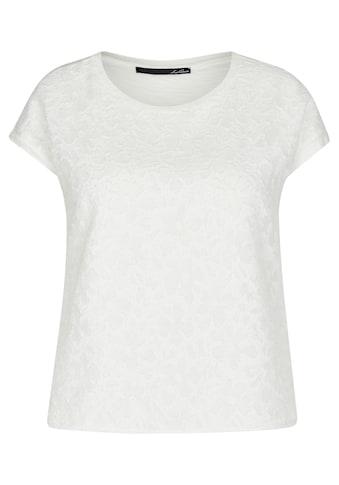 LeComte T-Shirt, mit unifarbenem Stoff und Blütenstruktur kaufen