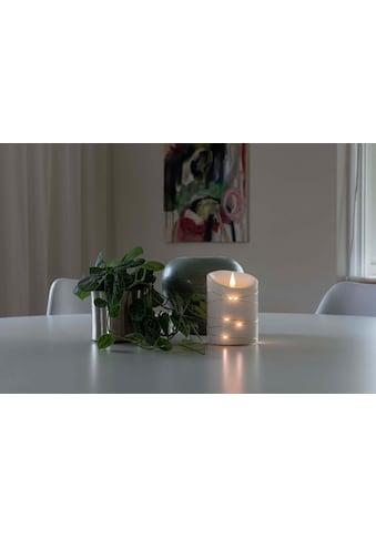 KONSTSMIDE LED-Kerze, LED Echtwachskerze, weiß, mit 3D Flamme und silberfarbenem Draht... kaufen