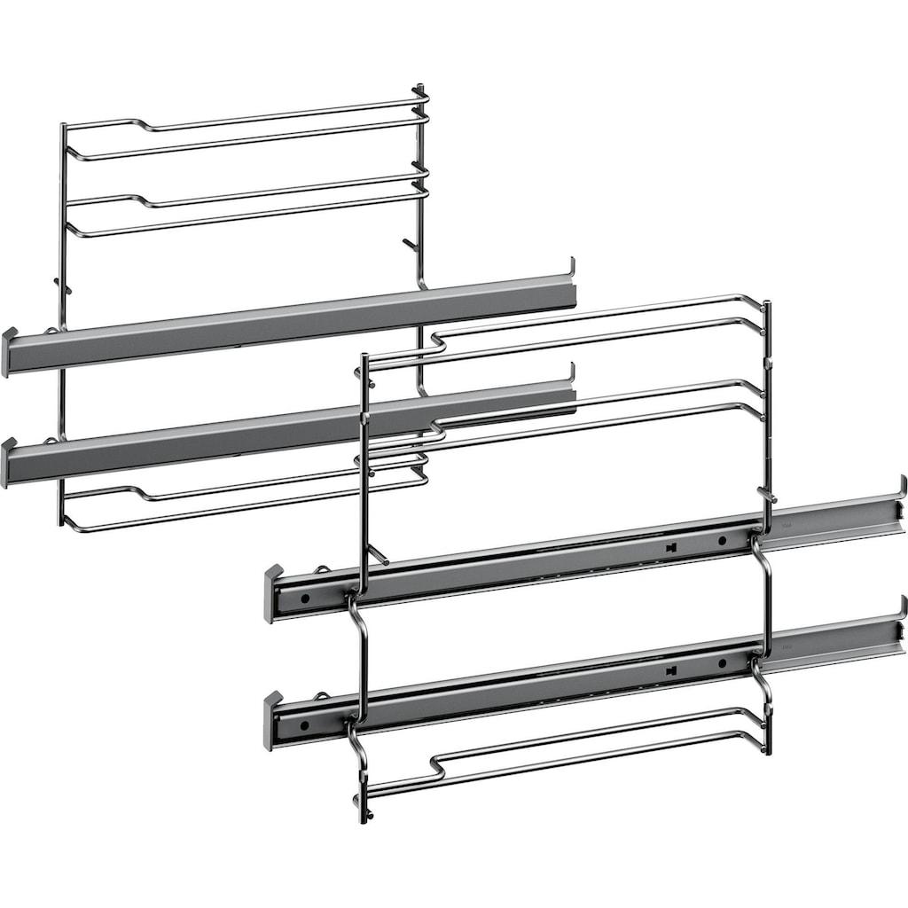 SIEMENS Flex-Induktions-Herd-Set »EQ521DA0ZM«, iQ500, HE517ABS1, mit 2-fach-Teleskopauszug, Kindersicherung