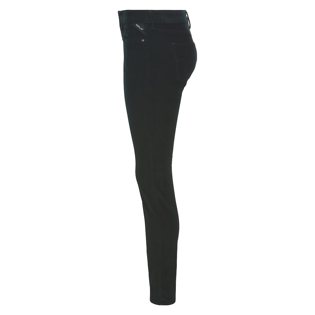 Replay Cordhose »New Luz«, coole Skinny in softer Feincord-Stretch-Qualität