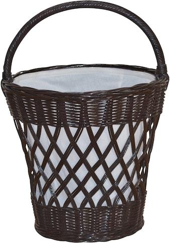 Wäschekorb, (1 St.), aus Rattan mit praktischem Tragegriff kaufen