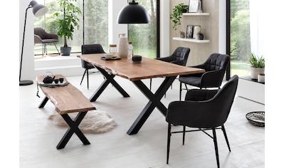 Premium collection by Home affaire Esstisch »Manhattan«, mit Baumkante kaufen