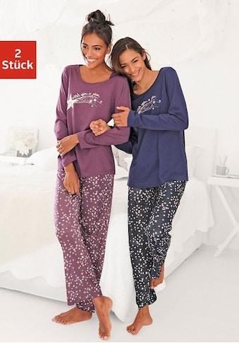 Vivance Dreams Pyjama, (2 Stück), mit Sternenprint kaufen