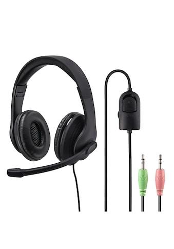 "Hama PC-Office-Headset ""HS-P200"", Stereo, Schwarz kaufen"