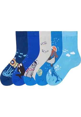 Arizona Socken, (5 Paar), mit Meeresmotiven kaufen