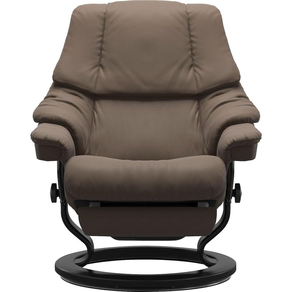 Stressless® Relaxsessel »Reno«, mit Classic Base und Power™, elektrisch verstellbar, optional 2-motorisch, Größe M & L, Gestell Schwarz