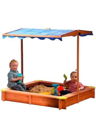DOBAR Sandkasten , BxL: 117x117 cm, mit Dach + Bodenplane kaufen