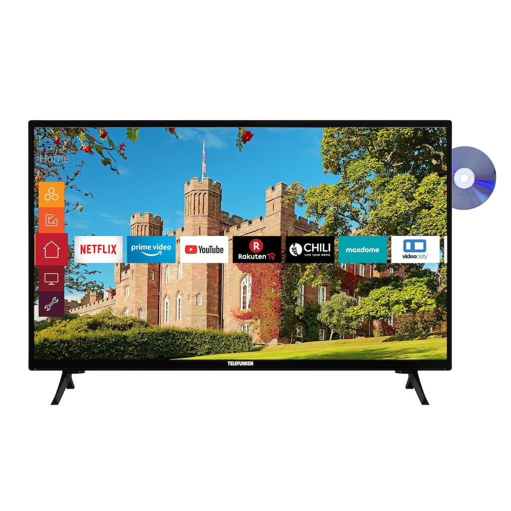 "Telefunken LED-Fernseher »XH24J501D«, 60 cm/24 "", HD-ready, Smart-TV"