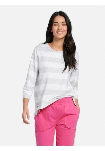 MYBC Sweatshirt »cotton«, und seitlichem Reißverschluss kaufen