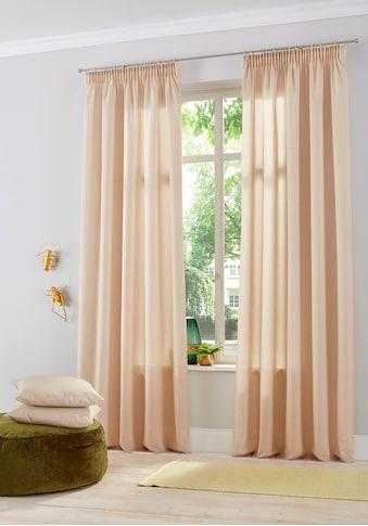 Home affaire Gardine »Naviv«, halbtransparent, nachhaltig, HxB: 300x140, für hohe Decken kaufen