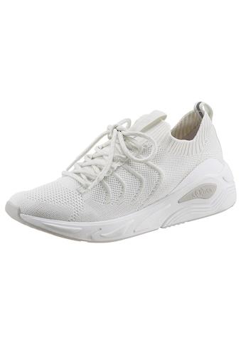 s.Oliver Slip-On Sneaker, in Knitwear Optik kaufen