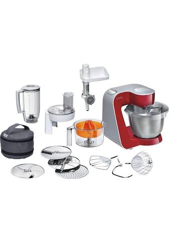BOSCH Küchenmaschine Styline MUM56740 3,9l Edelstahl - Schüssel, automatischer Kabeleinzug, zusätzliches Zubehör im Wert von 111,97€, 900 Watt kaufen