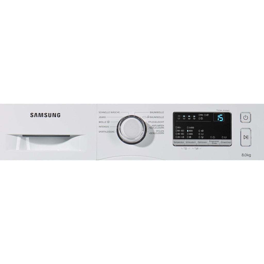 Samsung Waschmaschine »WW80J3470KW/EG«, WW3000, WW80J3470KW, Pflegetrommel