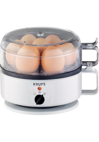 Krups Eierkocher »F23070«, für 7 St. Eier, 400 W, mit Wasserstandsanzeige, Koch- und Warmhaltefunktion, Weiß kaufen