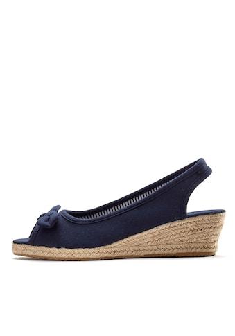 LASCANA Sandalette, aus Textil mit Keilabsatz kaufen