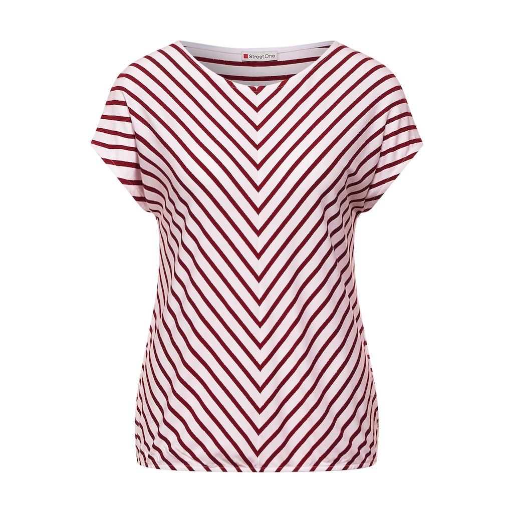 STREET ONE V-Shirt, mit Streifen