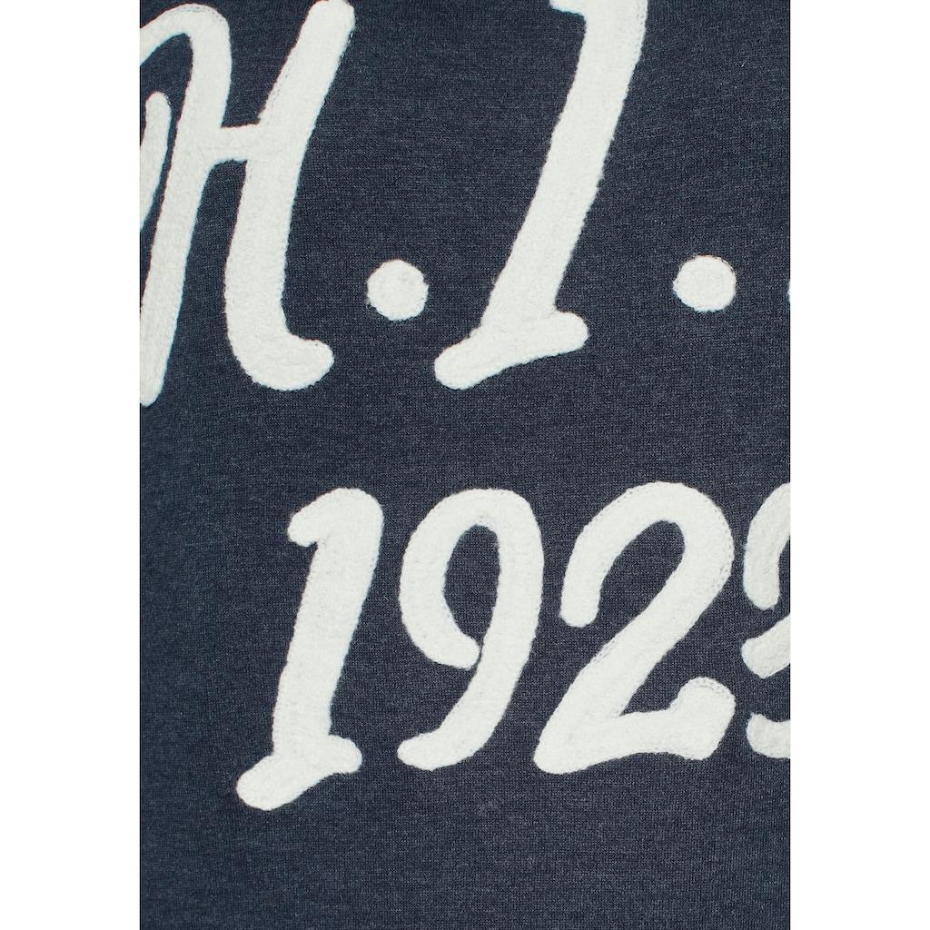 H.I.S Sweatshirt, mit Retro-Logo-Applikation